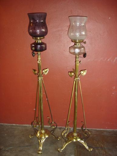 Floor Lamp material is brass  with glass Code FL09L