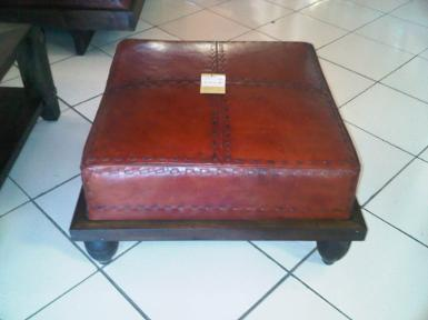 Leather Stool code CH001B  wide 1m.